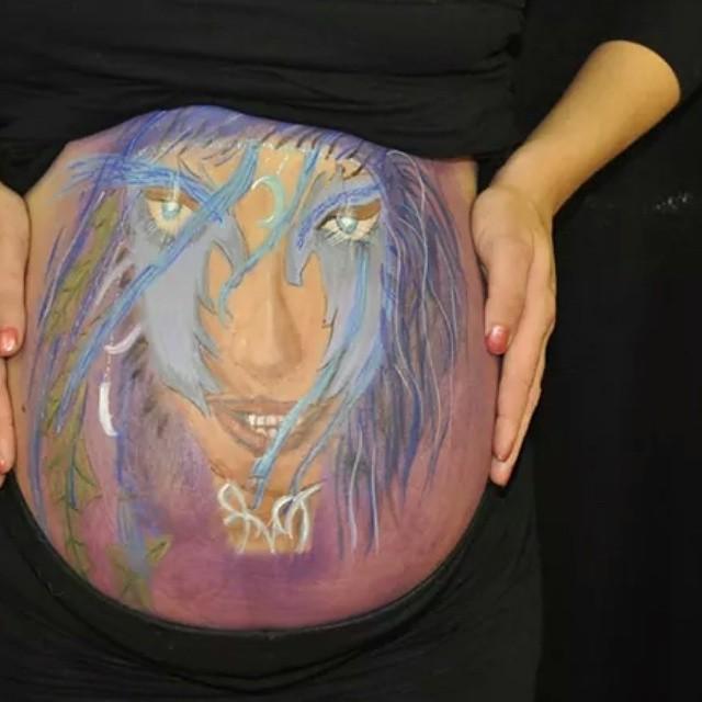 #spoeliegrime #bellypaint #schminken #lelystad #elf #zwanger #baby