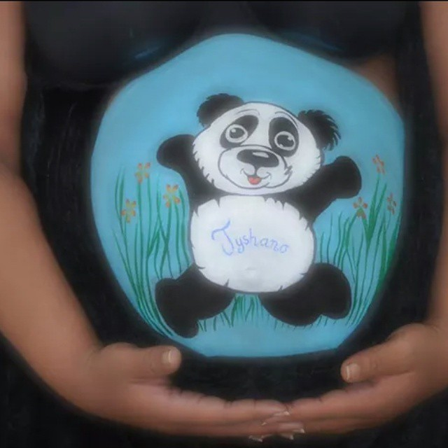 #spoeliegrime #bellypaint #pandabeer #schminken #zwanger #baby #lelystad