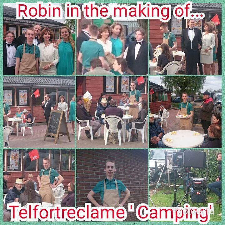 Robin in #actie bij de #commercial #opnamen van #Telfort #trots